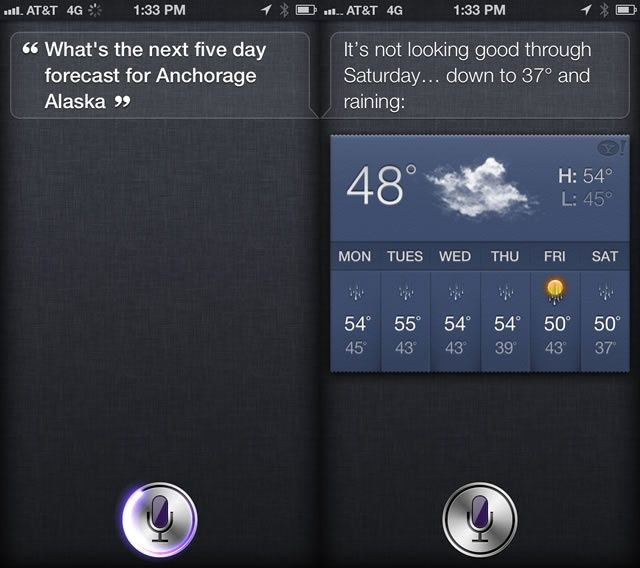 Siri Weather
