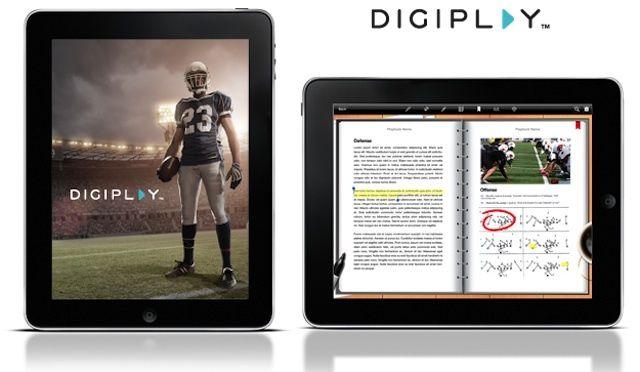 DigitalPlaybook's interface on the iPad.