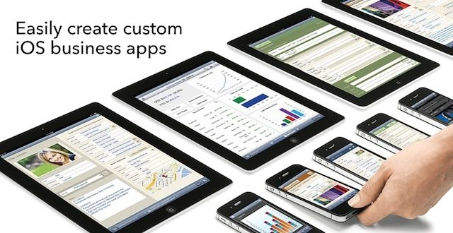 FileMaker pitches its product line as an alternative to native iOS app development.