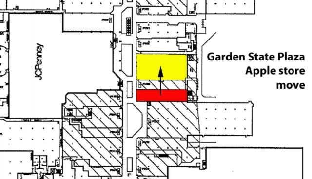 this short move along the mall would triple the size of apples garden state store - Apple Store Garden State Plaza