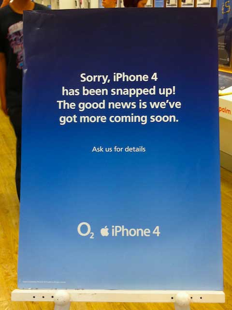 O2 in the UK sold out of units the first day