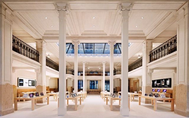 An Apple retail store in Opéra, Paris.