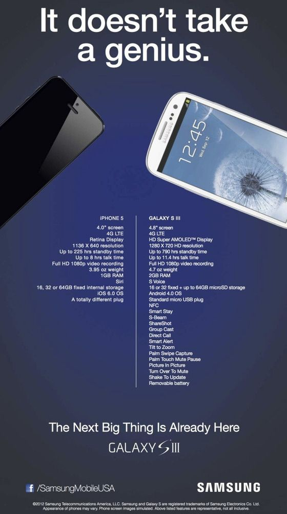 Behold Samsung's Ridiculous New Anti-iPhone 5 Ad [Image ...