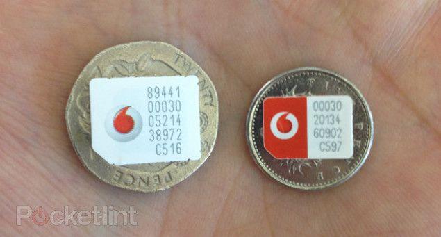 Vodafone micro-SIM vs. nano-SIM.