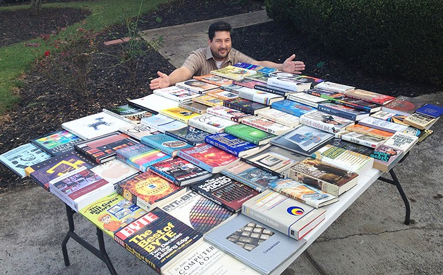 David with Books