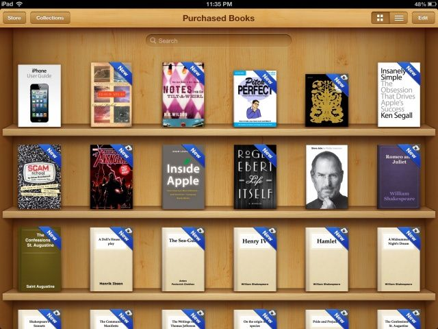 You can now see every iBook you've bought in iCloud.