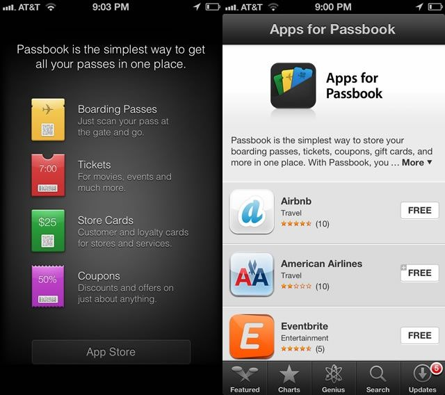 Passbook New Apps