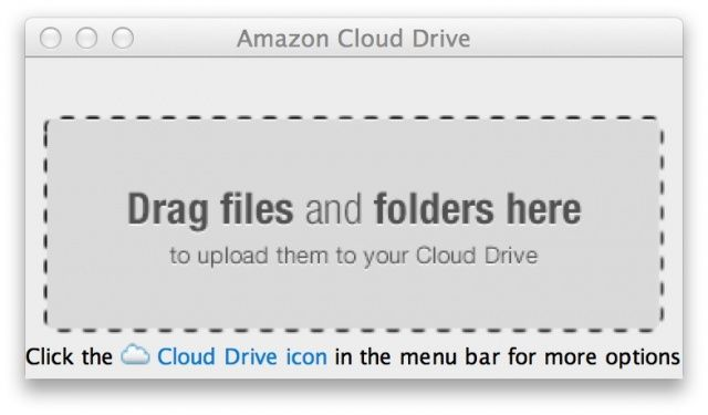 You can now upload your files to Cloud Drive from your desktop.
