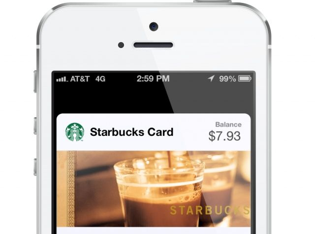 Starbucks in Passbook on iPhone 5