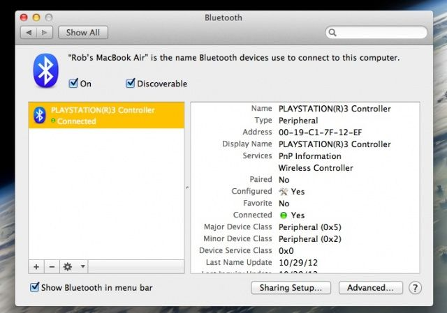 Use A Playstation 3 Controller On Your Mac With Bluetooth [OS X Tips