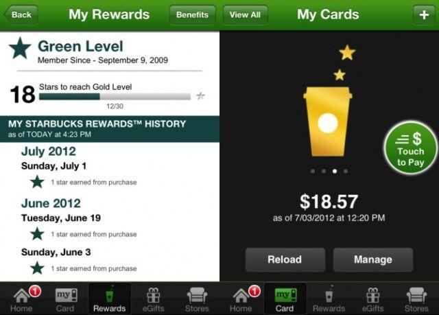 Starbucks Update iOS 6