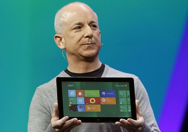 Sinofsky with Microsoft's new Surface tablet.
