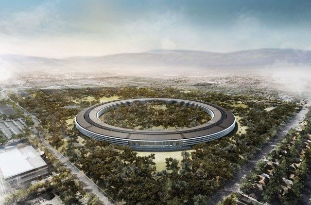 Apple's spaceship campus as it will eventually appear.