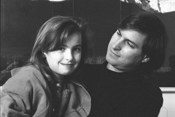 Steve Jobs with his daughter Lisa Brennan-Jobs.