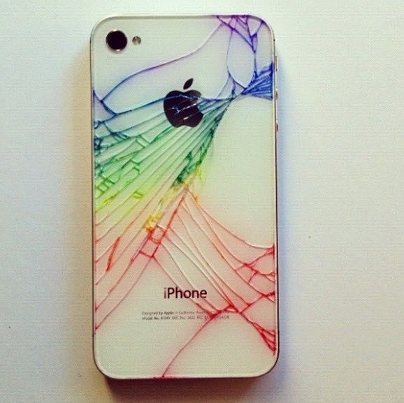 Here's A Quick Way To Make Your Broken iPhone Look Cool ...