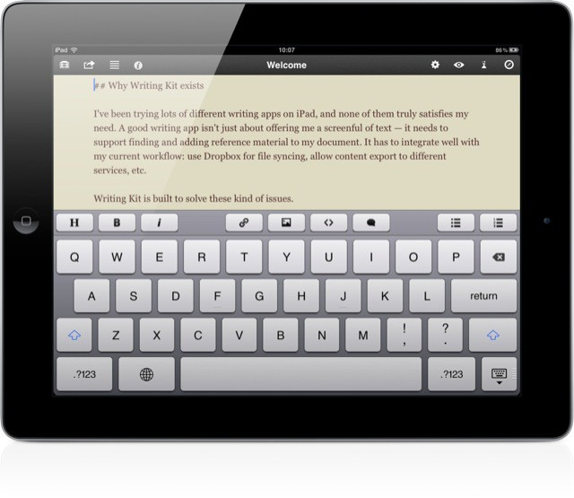 best book writing app for ipad pro