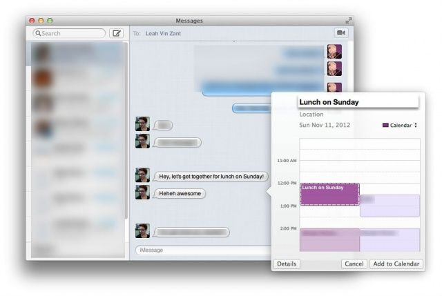 Use Messages To Schedule Events In Mountain Lion's Calendar