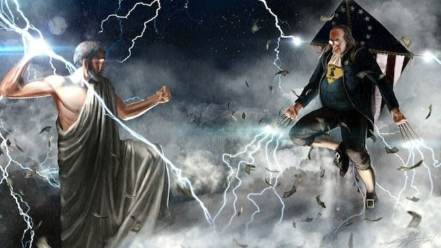 Ben Franklin vs. Zeus