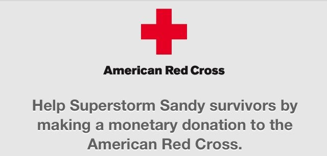 You can now donate to the American Red Cross via the iOS App Store.