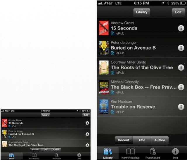 Sony's Reader service is now available on iOS.
