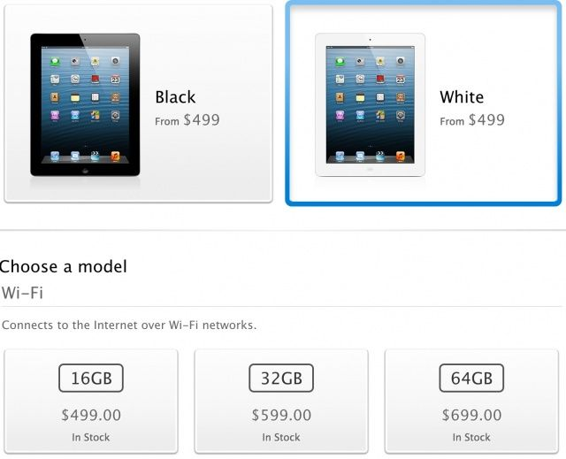 Order a fourth-generation iPad today and have it shipped immediately.