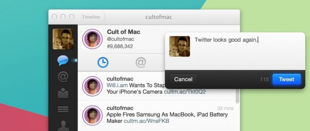 Twitter looks good again on my Mac.