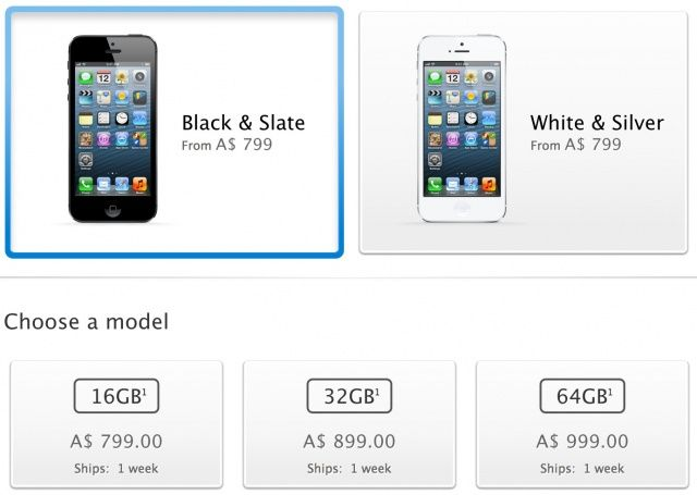Order an iPhone 5 today and have it shipped by next Monday.
