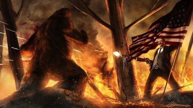 Teddy Roosevelt vs. Bigfoot