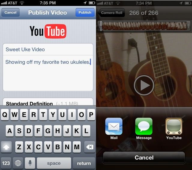 Upload video from your iphone or ipad photo roll directly to youtube upload video from your iphone or ipad photo roll directly to youtube ios tips ccuart Image collections
