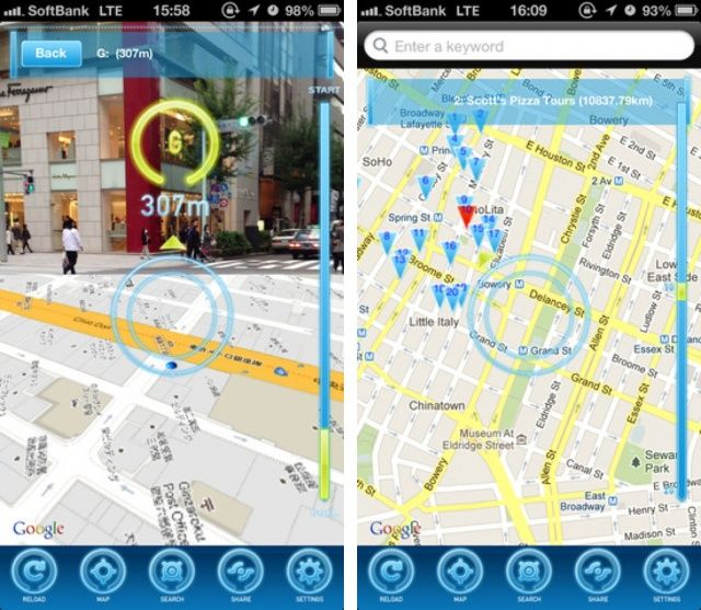Clever iphone app brings augmented reality to apple and google maps clever iphone app brings augmented reality to apple and google maps gumiabroncs Images