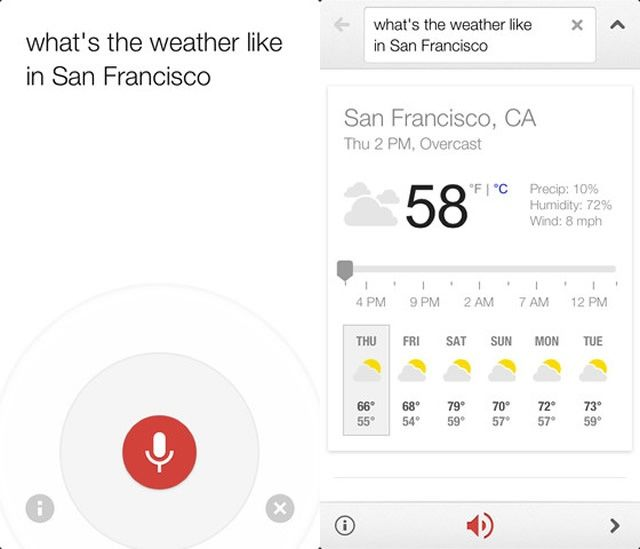 sf weather google voice search