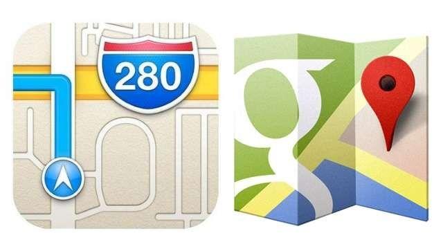 Google Maps Apple Maps icons