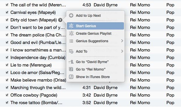 Genius Playlists iTunes 11