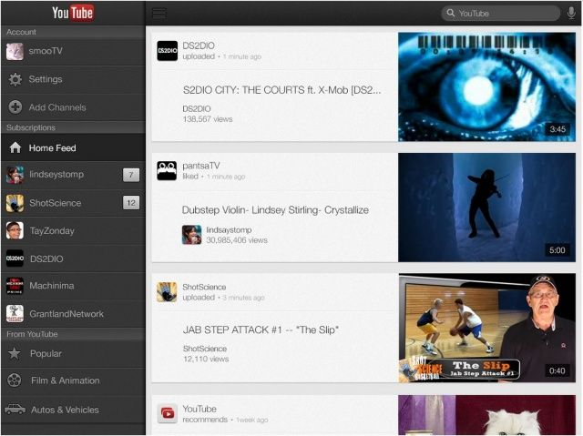 YouTube-iPad