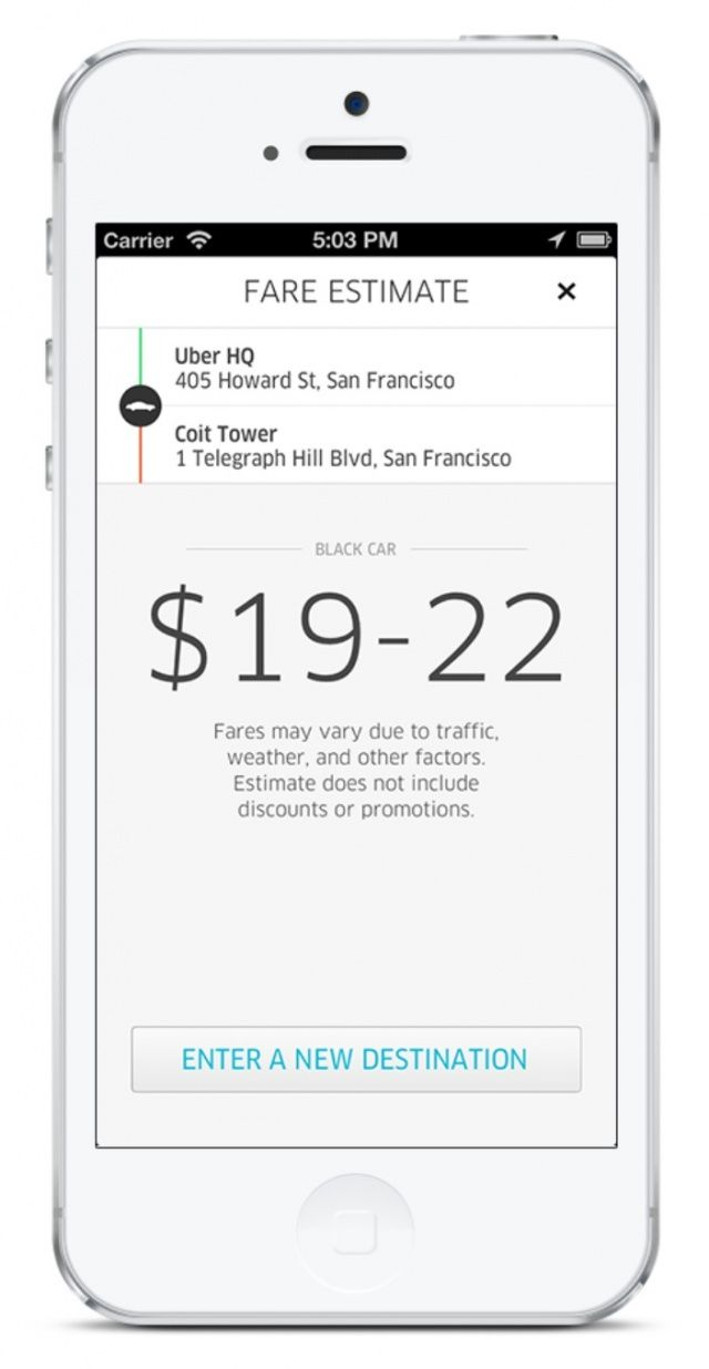 Uber 2 0 For Iphone Goes Live With Complete Redesign Ride Fare
