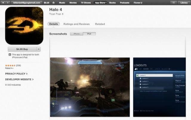 Halo-4-App-Store-scam