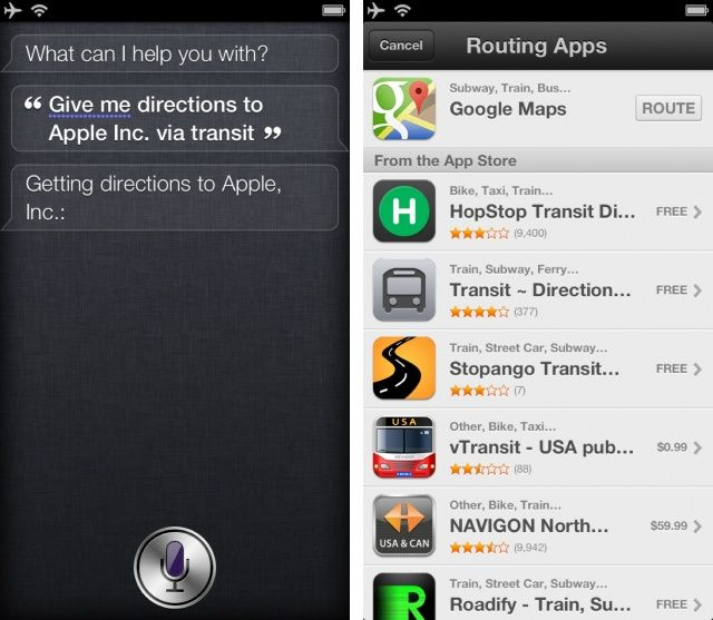 Use Siri with Google Maps tip