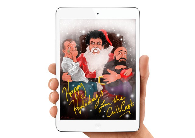 CultCast Christmas fan art courtesy of listener & iPad Artist Matthew Hall! (@RozHall)