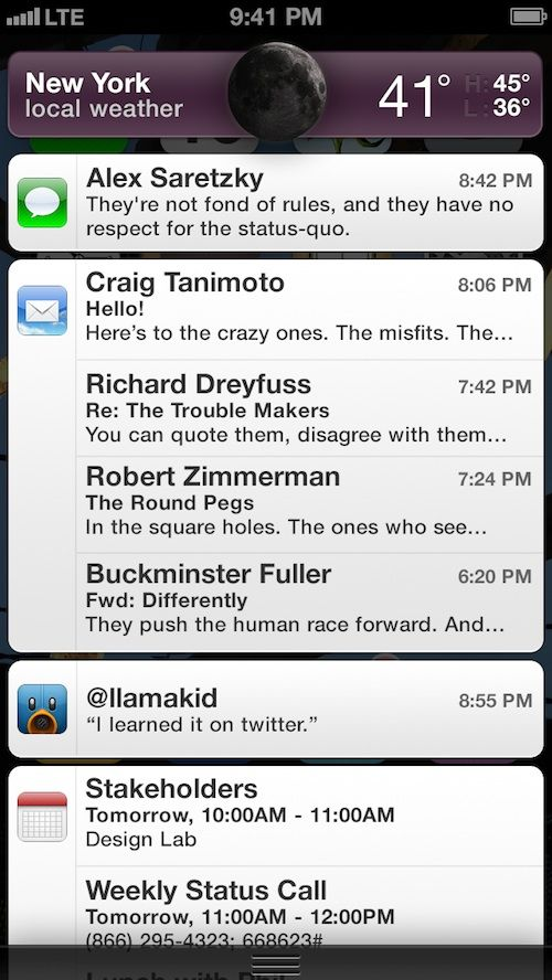 iPhone5notificationsCenterComp