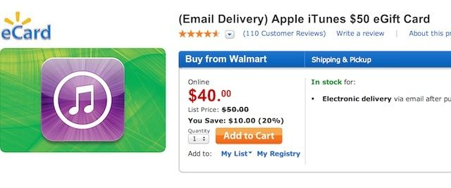 Free Money! Walmart Is Selling $50 iTunes Gift Cards For $40 ...