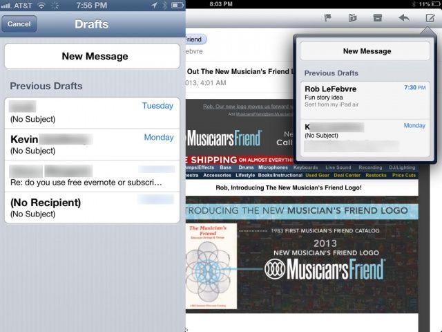 Draft iOS Mail