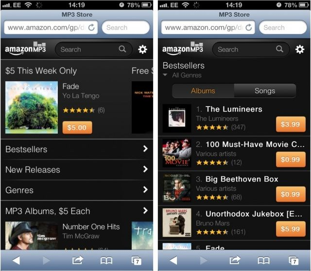 Amazon Snubs The App Store, Makes MP3 Store Available