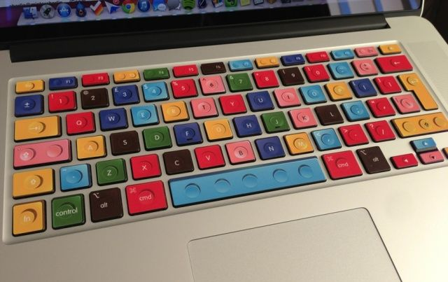 These Cool Keyboard Decals Add A Splash Of Color And