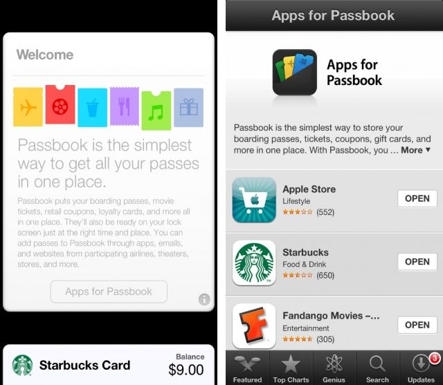 It's a lot easier to find Passbook-friendly iPhone apps now.