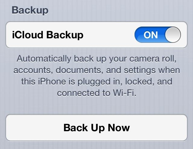 You can see your iCloud backup info in the Settings app.