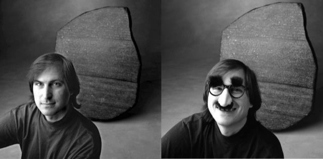 Steve Jobs & Nose Jobs. Photo by Tom Zimberoff.