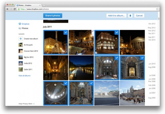 Dropbox Adds Photo Albums, Obviates Picasa, Challenges Photo