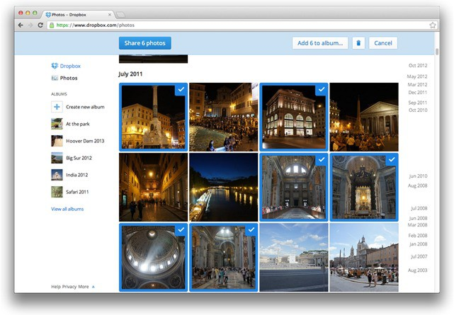 Dropbox Adds Photo Albums Obviates Picasa Challenges