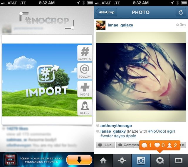 Upload Full-Size Photos To Instagram With #NoCrop [iOS Tips