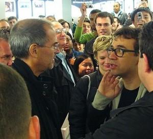 Fred Armisen meeting Steve Jobs back in 2006.